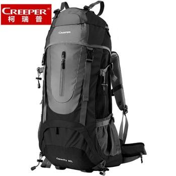 Creeper 60L Men Women Outdoor Backpack Free Shipping Professional Waterproof Nylon Climbing Bag Camp Hiking Travel Trekking Bag