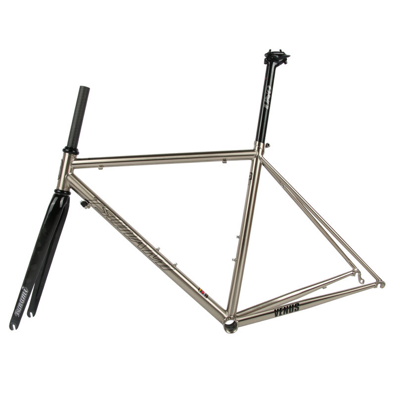 Perfect TSUNAMI 520 chrome-molybdenum steel Bicycle Frame Road Bike Frame + full carbon front Fork or steel Fork 7