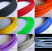5M 4mm szerokości TIGHT pleciony PET rozwijany kabel drutu płaszcza czarny czerwony pomarańczowy żółty zielony niebieski fioletowy szary biały wyczyść tanie tanio Spiral owijania PET Expandable Sleeving Wire Protecting Wire Decorate 200 -60 Deg C to 125 Deg C 230 Deg C UL94-V0