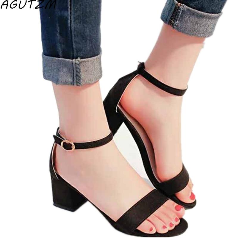 AGUTZM Women Sandals Open Toe Flip Flops Women's Sandals Thick Heel Women Shoes Korean Style Gladiator Shoes Platform Wedge Shoe стоимость