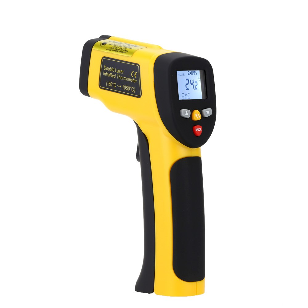Precision Digital Infrared Thermometer Double Laser Non-contact IR Pyrometer Temperature Tester Diagnostic-tool-50~1050 Degrees