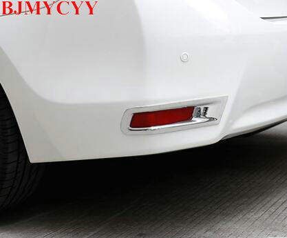 BJMYCYY Automobile rear fog lamp decoration light cover for Toyota Corolla 2014 auto accessories car styling