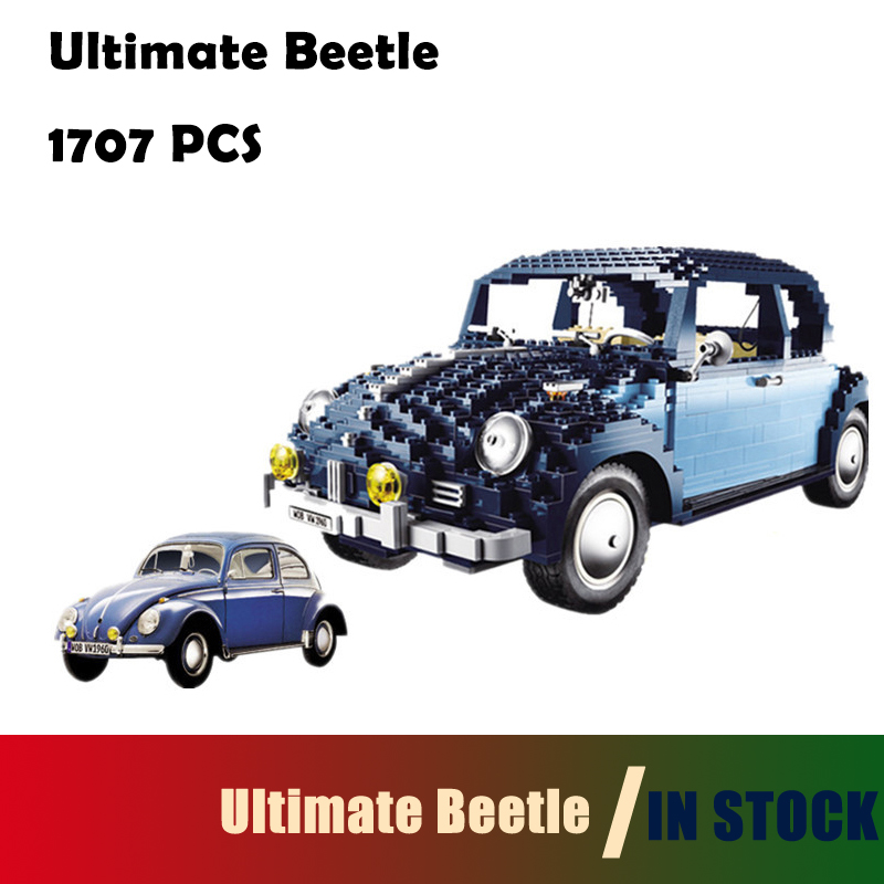 Compatible With Lego 10187 Model Building Blocks toys 21014 1707Pcs Classic Series Ultimate Beetlecar-styling lepin 21014 the ultimate beetle building bricks blocks toys for children boys game model car gift compatible with bela 10187
