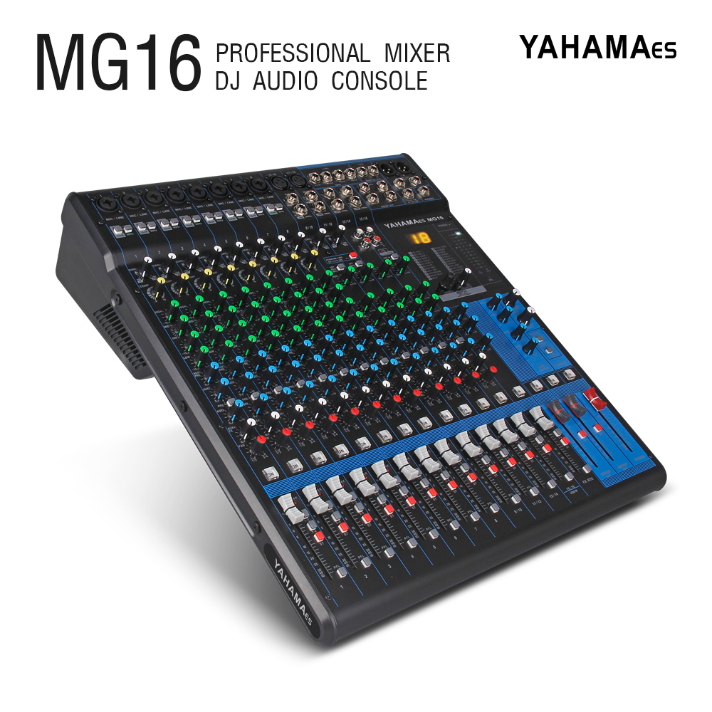 YAHAMA es 16 Canal de Áudio com Efeitos de Som 24bit profissional Mixer de Estúdio de Áudio-DJ Controlador de Som Interf