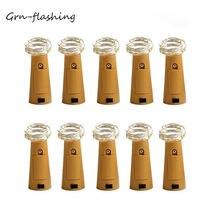 10 шт/лот сказочные огни для винных бутылок в форме пробки Звездные