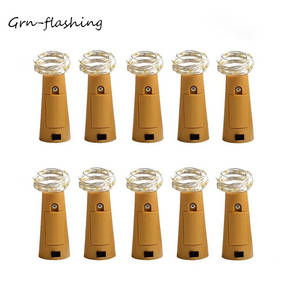 Hot sale 10 Pcslot Wine Bottle Lights Cork Shaped Starry LED String fairy light for holiday Wedding Party Decoration lights