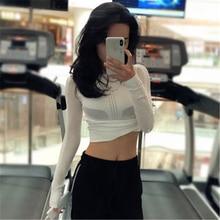 Women  Air Mesh Long Sleeve Running Jogging Shirt Top.