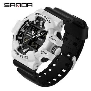 Image 2 - SANDA Sports Mens Watches Luxury LED Digital Military Quartz Watch Men Waterproof G Style Wristwatches relogio masculino Clock