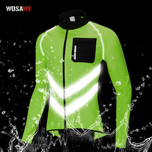 WOSAWE Driving Reflective Clothing Long Sleeve Windproof High Visibility Motocross Riding Off-Road Safety Jacket Windbreaker