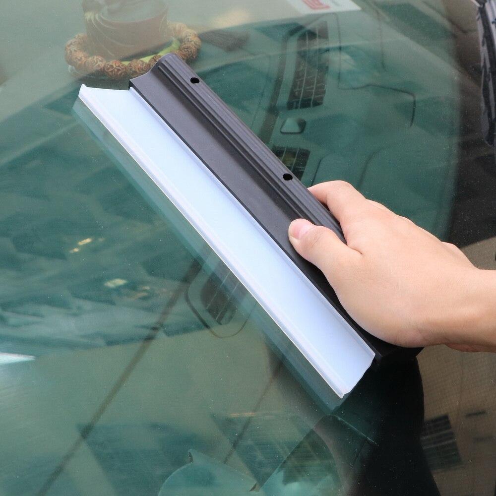 Car Washer Scraper Rubber Glass Window Cleaning Brush Mirror Window Wiper Auto Care Wiper Cleaner Blade Windshield Wash Tools