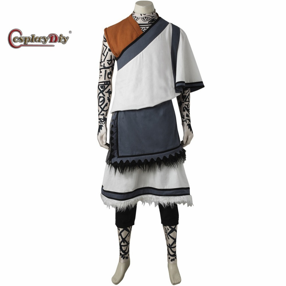Cosplaydiy PS4 Game The Last Guardian The Young Boy Costume Adult Men Halloween Carnival Cosplay Clothes Custom Made J5