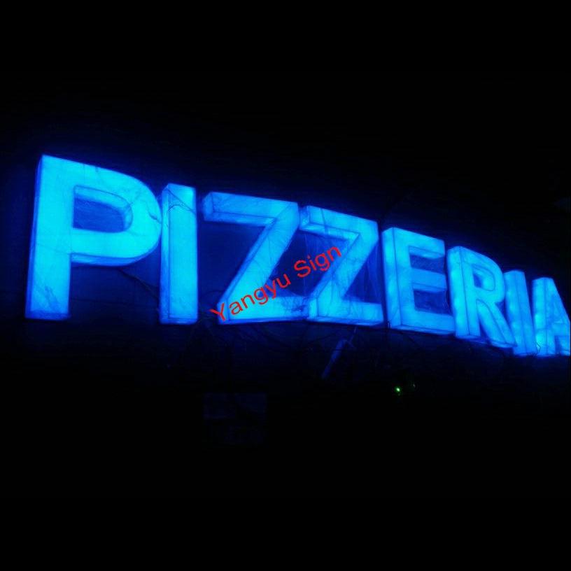 3D Advertising Shop Name Board Designs LED Backlit Sign-in