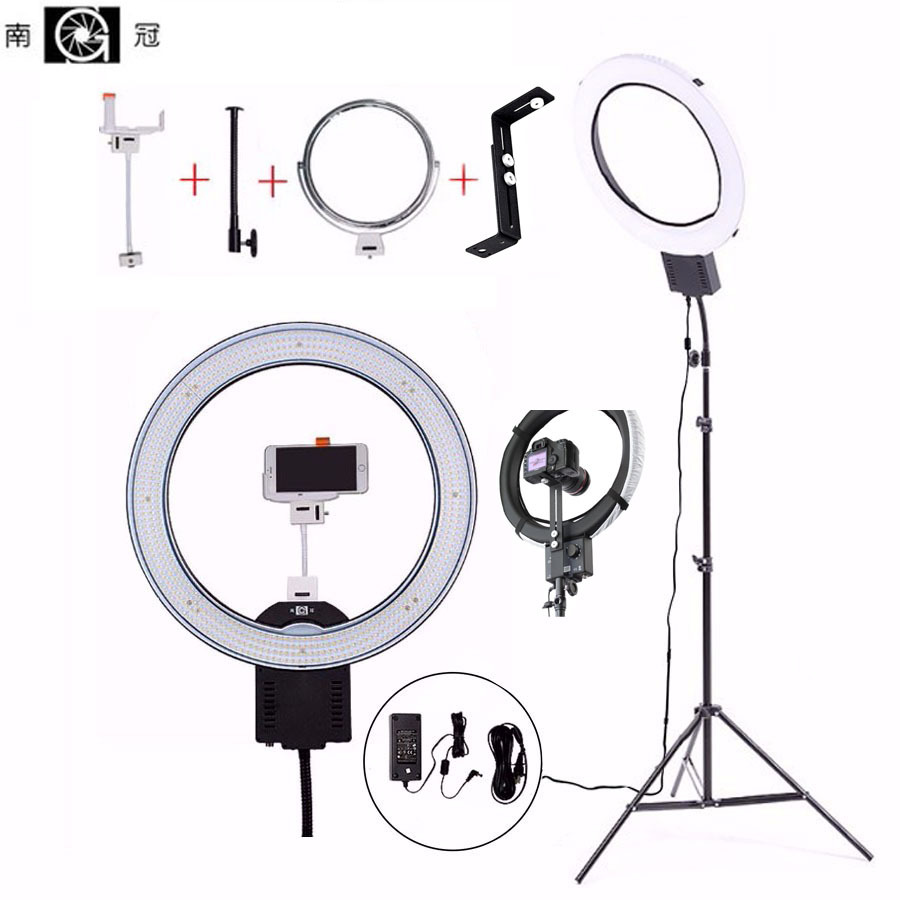 NanGuang Camera Photo/Studio/Phone/Video 1955W 640 LED Ring Light 5600K Photography Dimmable Ring Lamp with Cloth Color/Tripod latour 2400 led photography lighting dms 5600k studio video camera stage light lamp