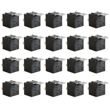 20 Pieces Relays  12 V Car Accessories  5 Pins Black Color Relay
