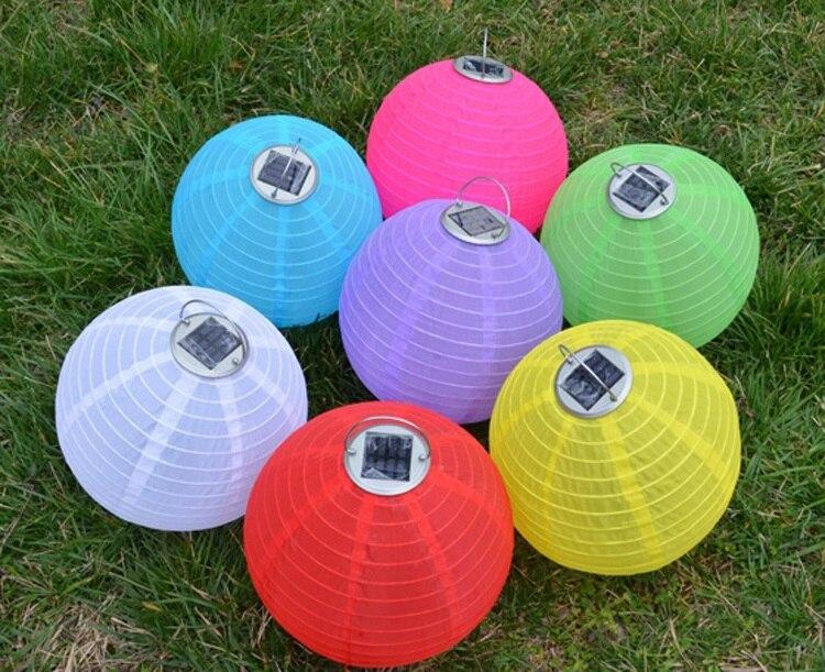Chinois lanterne Style LED lampes solaires papier lanterne jardin ...