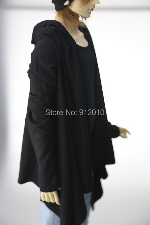 Handsome Casual Cape Hooded Shirt for BJD 1/4, 1/3, SD17,Uncle SOOM Luts DOD AS IP Doll Clothes CMB14 unisex irregular long t shirt for bjd doll 1 6 yosd 1 4 msd 1 3 sd10 sd13 sd16 sd17 uncle luts dod as dz sd doll clothes cwb7