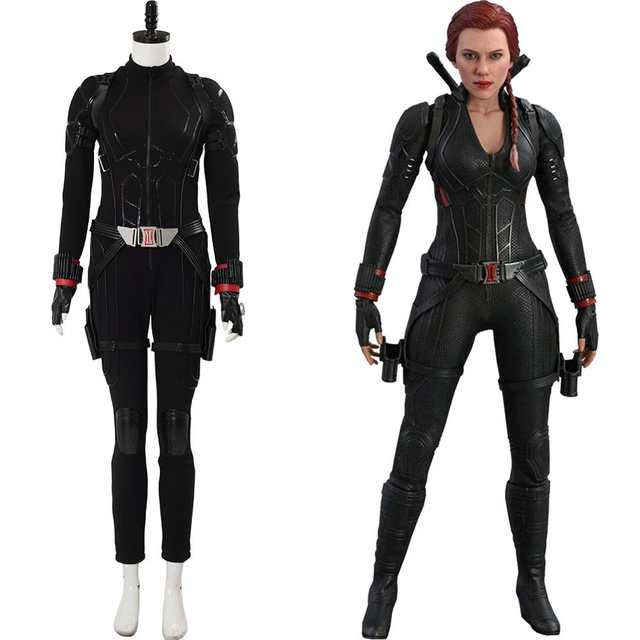 Us 203 81 11 Off Avengers 4 Endgame Black Widow Cosplay Costume Natasha Romanoff Costume Outfit Disguise Adult Women Full Set Halloween Cosplay In