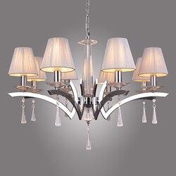 Nowy współczesny kryształowy żyrandol wiszące oprawa w 8 oświetlenie do sypialni pokój dzienny jadalnia lampa pokój PL438 w Wiszące lampki od Lampy i oświetlenie na