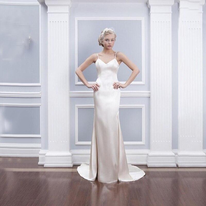 New Design Satin Mermaid Wedding Dresses 2015 Sexy