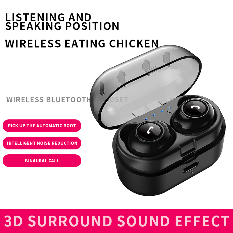 Bluetooth Earphone TWS Bluetooth 5.0 Wireless Earphones Waterproof Bluetooth Headset Gaming Earphone for all Smart Phone
