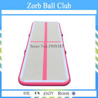 Free Shipping DWF PVC Pink Indoor Sport Equipment Used Commercial Gymnastics Gym Mat 3m Inflatable Air Track For Sale