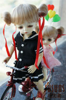 JD034 1/12 Synthetic mohair doll wigs 3-4inch Cute little balls wig  tiny doll accessories
