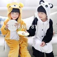Flannel Pajamas Kids Animal Costume Onesies Cosplay Bear Panda Sleepwear Homewear Jumpsuits Children S Wear