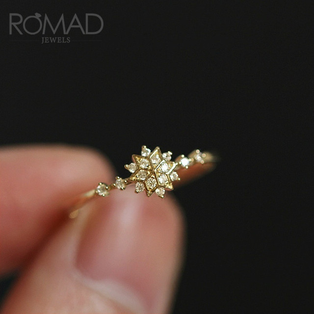 ROMAD Chic Dainty Cute Women's Snowflake Rings Delicate Rings Rings Wedding Jewelry Gold / Silver color R4