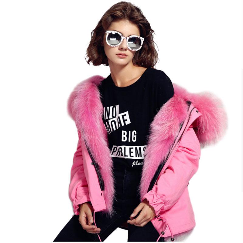 c2 c3 Col C1 Raton Manteau Capuchon Doublure Amovible Hiver Laveur Outwear Fourrure Grand c4 2017 Real Parkas c5 Femmes Camisa Big c6 Mode Veste Rose À De wxnq8B1g