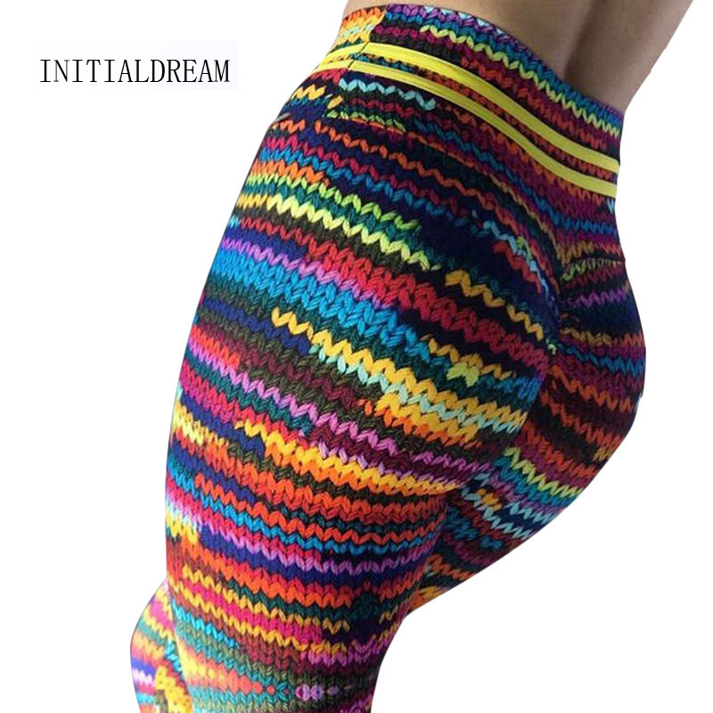 2019 Push Up Women 3D Squat Print High Waist Elastic Fitness Leggings Sexy Breathable Women Workout Legging Punk Rock