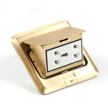 купить New Five holes multi-function pop-up waterproof Floor socket/floor plug/gold socket outlet по цене 2807.15 рублей