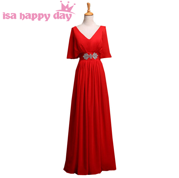 b94cedde911 elegant red floor gowns plus size evening gowns a-line gown size 18 chiffon  dress women long formal engagement dresses H3129