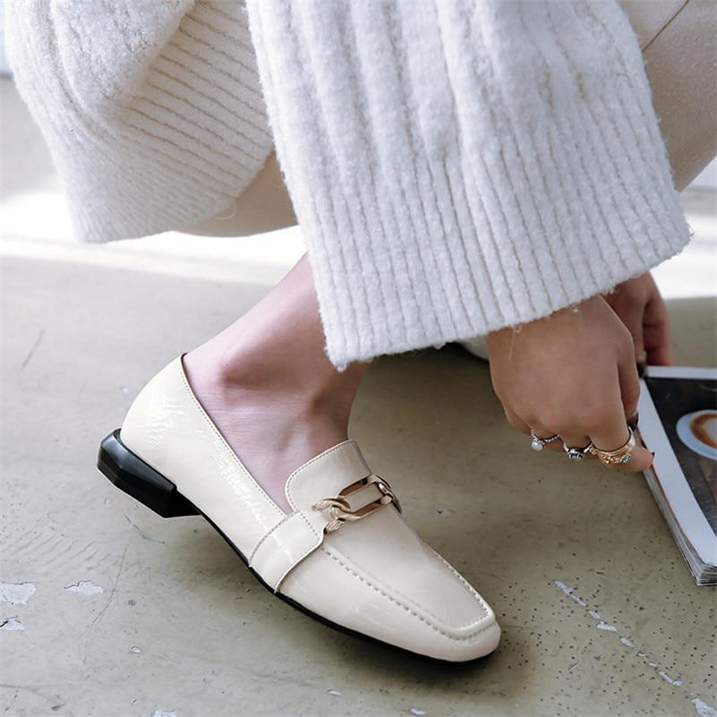 Autunno Signore Donna Delle Sexy 2018 Talloni Genuino Loafter 2 Fedonas Classico Scarpe 1 Di Moda Cuoio Pompe Casual Donne Comfort Low xXvdnUqd6