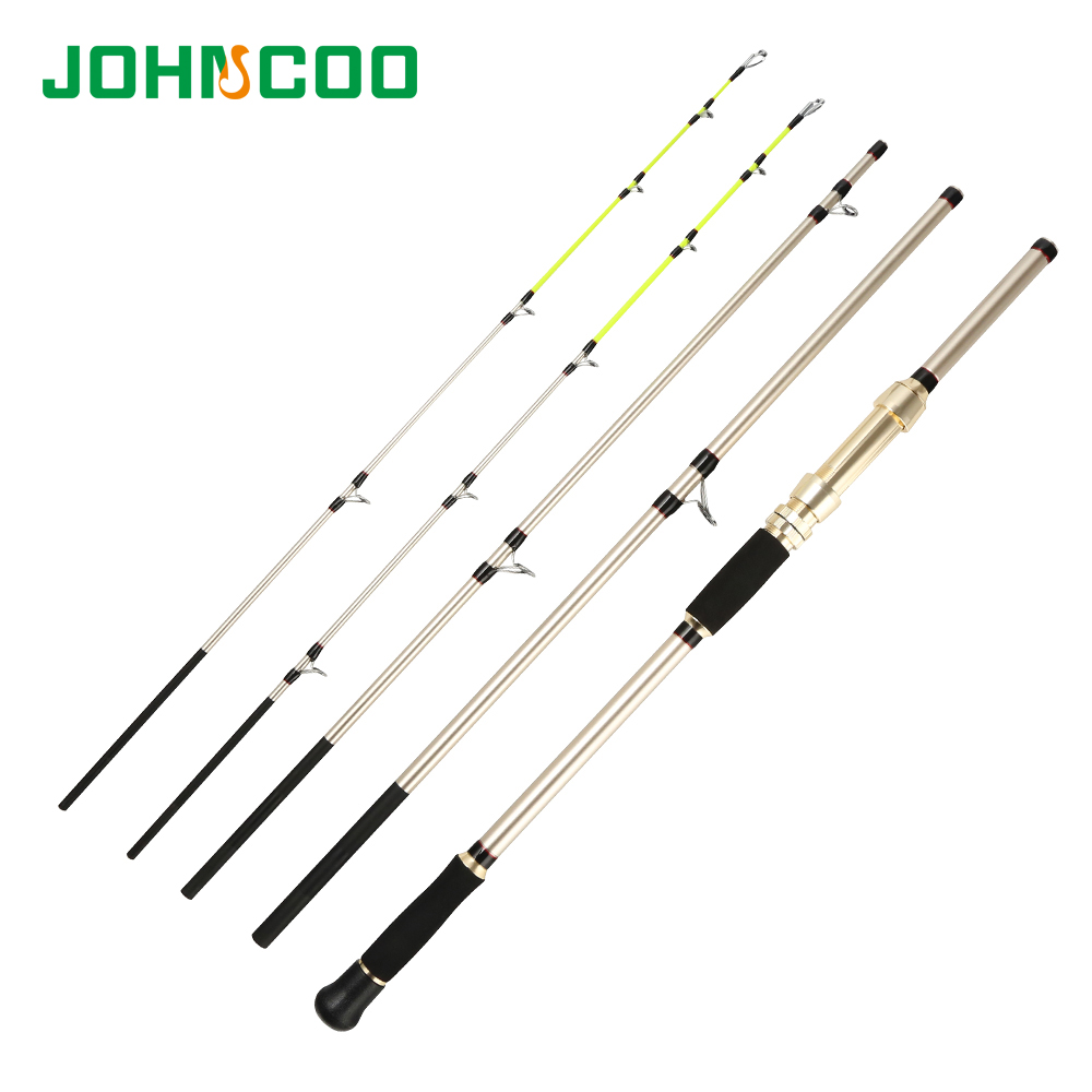 JOHNCOO NEW Spinning Fishing Rod for Sea Big Game Max Power 15kg 4Sections H XH 2Tips