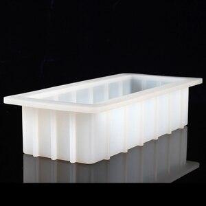 Image 4 - סיליקון סבון עובש מלבן 10Loaf עובש גמיש DIY סבון ביצוע ספקי