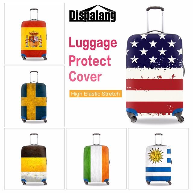 Bandeira nacional Bagagem Spandex Cobre À Prova D' Água Bagagem de Viagem Mala Capa Protetora de Poliéster Elástico Protetores 18-30 polegada