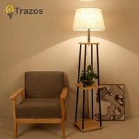 TRAZOS Nordic Стиль деревянный торшер огни моды Дизайн Стекло настольные лампы светильники для Гостиная/загородный дом/бар /Hotel