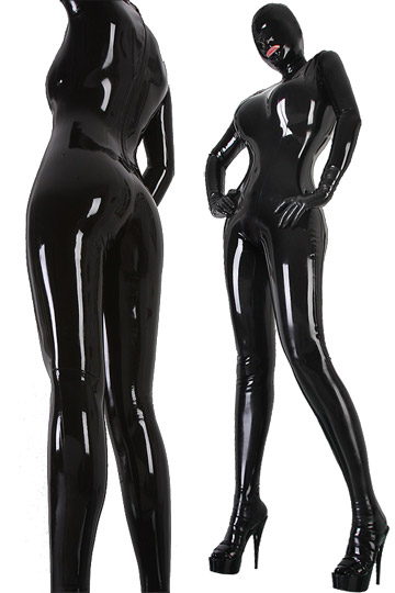 Womens Latex Rubber Overall Bodysuit Fetish Latex Catsuit -9515