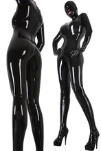 Women's Latex Rubber Overall Bodysuit Fetish Latex Catsuit With Crotch Condom Fast Shipping Made to measure