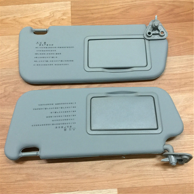 STARPAD pour Hyundai Elantra miroir intérieur   beige et gris, une paire de miroirs de maquillage