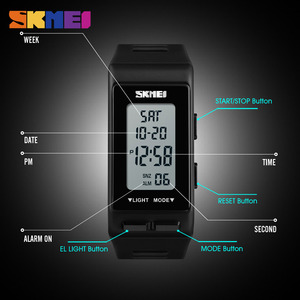 Image 5 - SKMEI Fashion Digital Women Watch Sports Outdoor Watches Time Waterproof Week Display Fashion Personality Relogio Feminino Saat