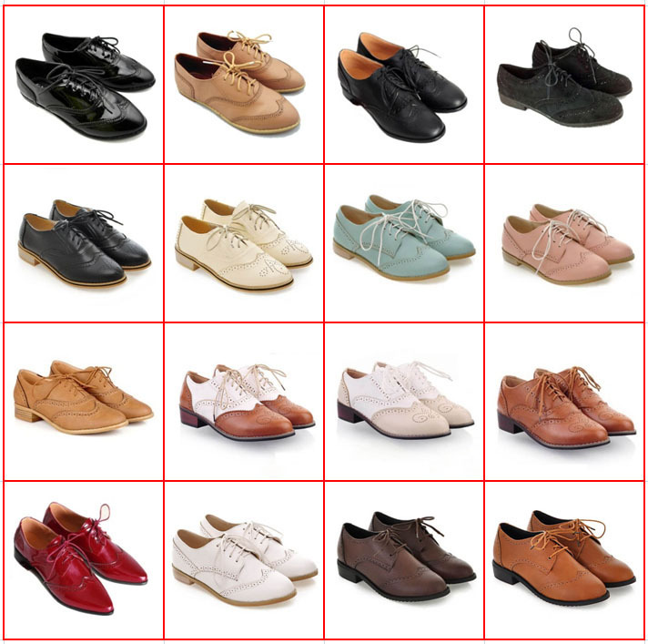 Hot Sale Carved Lace Up Oxford Shoes