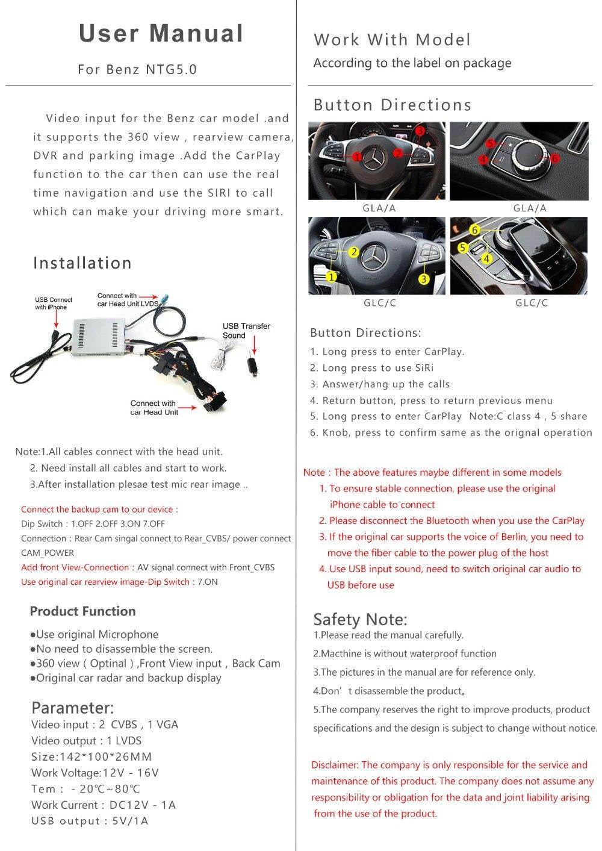 Benz NTG5.0English