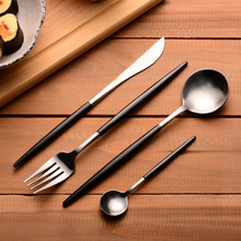 4Pcs/set Stainless Steel Flatware Set Tableware Dinnerware Knife Spoon Fork Cutlery Set Kitchen cooking Picnic Gift for CHild