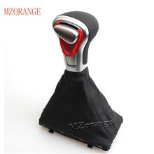 MZORANGE Gear Shift Knob Leather Chrome FOR Audi A6 A7 A3 A4 A5 c6 Q7 Q5 2009 2010 2011 2012 2014 4G1 713 139 R