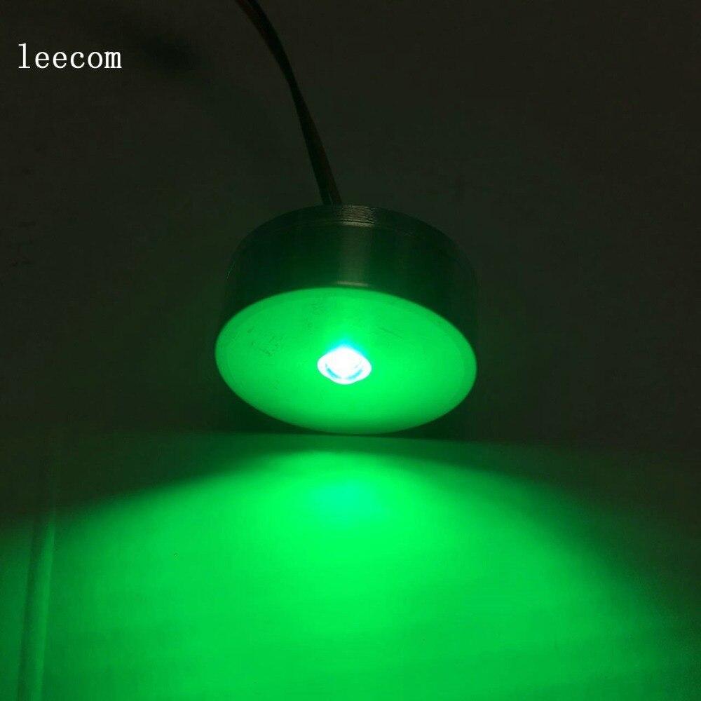 10pcs/lot  LED Mini Cabinet Downlight 1W diameter 30mm dc12v silver Frame Recessed Ceiling No Flicker Spot Lights For Home