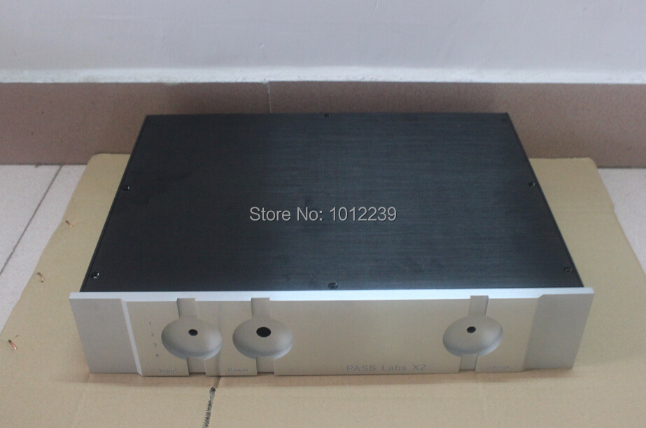 4309 PASS X2 preamp chassis / home audio amp case / aluminum chassis size 430X 90X 308 hot sale gold preamp aluminum chassis with knob diy home audio amp chassis size 236 w x 166 high x 75 deep