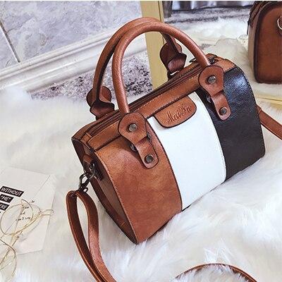Lady Alligator Hobos Bag Patchwork Shoulder Bags Large Capacity Sac A Main Retro Oil Wax Pu Leather Women Handbag brown