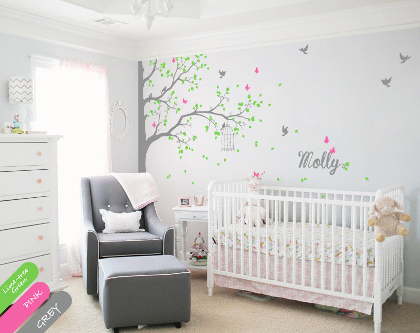 Custom Name Tree Wall Decals Decor Nursery Mural Children Room Stickers Diy Removable Wallpaper Size 69 3 94 5inches On Aliexpress Alibaba