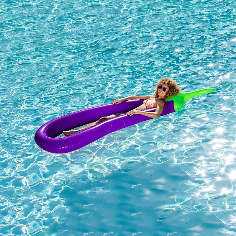 Summer 98 Inch Giant Pool Mattress Swimming Pool Inflatable In Water Toy Eggplant Air Matters Float Row Swim Rings Beach Mat inflatable giant pegasus floating rideable swimming pool toy float raft floating row white swan floating row for holiday water